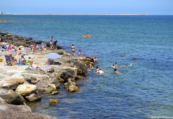 Playas Denia. El Trampolí.